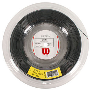 WILSON RIPSPIN 16G TENNIS STRING REEL BLACK