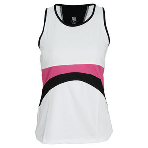 TAIL WOMENS BERRY NICE MELODIC TANK WHITE