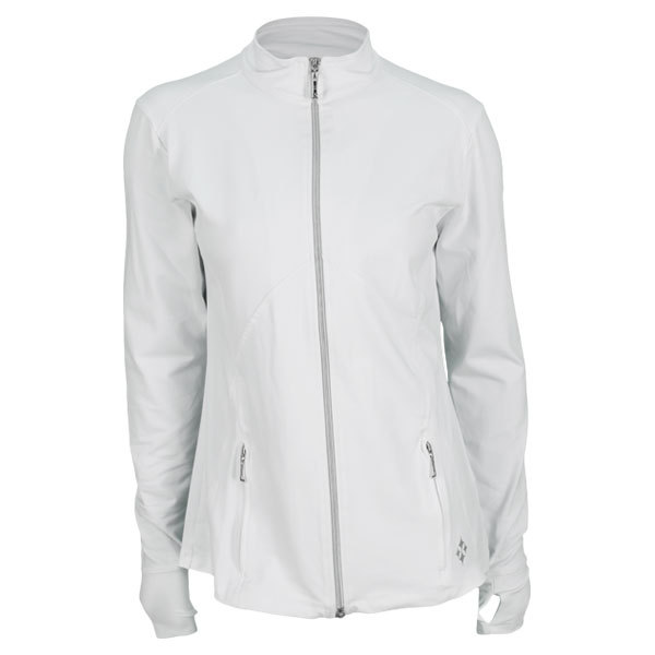 Women's Thumbs Up Tennis Jacket White