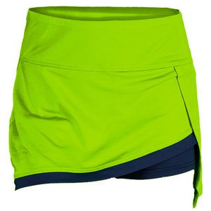 BOLLE WOMENS ELECTRIC SURGE TENNIS SKORT GREEN