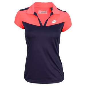 LOTTO WOMENS NATTY TENNIS POLO PURPLE