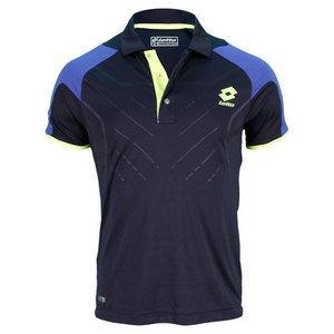 LOTTO MENS MATRIX TECH TENNIS POLO NAVY