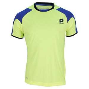 LOTTO MENS MATRIX TECH TENNIS TEE YELLOW