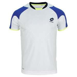 LOTTO MENS MATRIX TECH TENNIS TEE WHITE