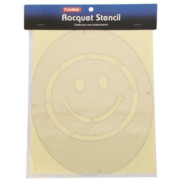 Smiley Face Tennis Stencil