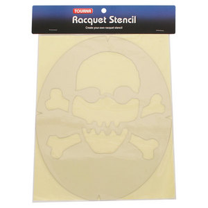 Skull and Crossbones Tennis Stencil