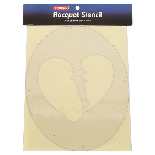 Broken Heart Tennis Stencil