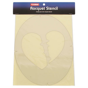 Broken Heart Tennis Stencil