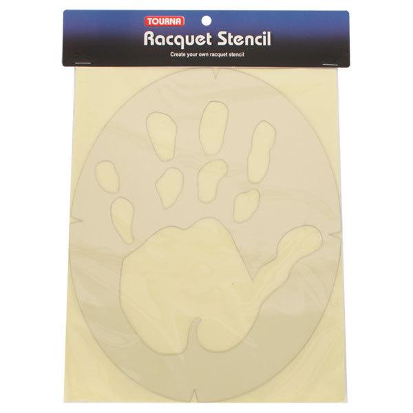 Hand Print Tennis Stencil