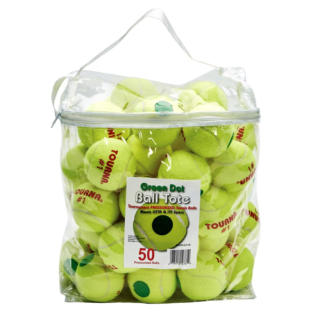 Green Dot Tennis Ball 50 Pack