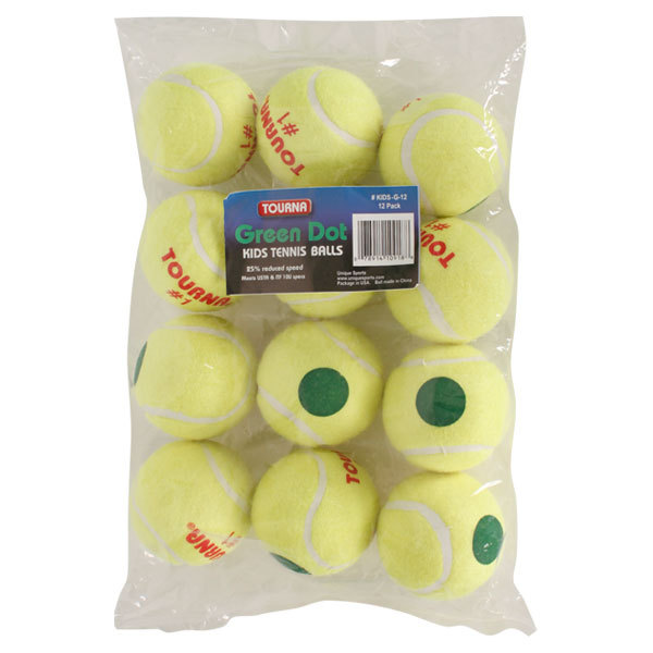 Green Dot Tennis Ball 12 Pack