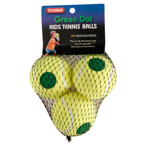 TOURNA GREEN DOT TENNIS BALL 3 PACK