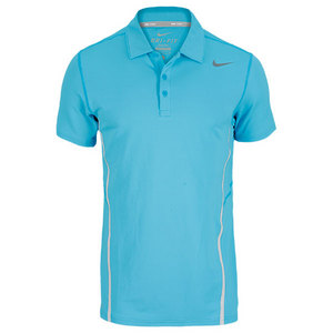 NIKE MENS SPHERE TENNIS POLO BLUE