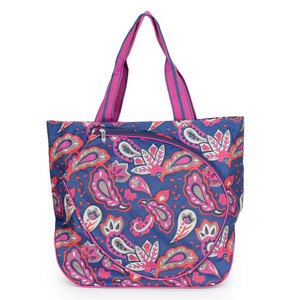 ALL FOR COLOR VIVID PAISLEY TENNIS TOTE