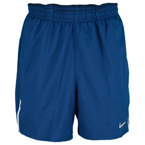NIKE MENS POWER 7 INCH WOVEN SHORT NAVY
