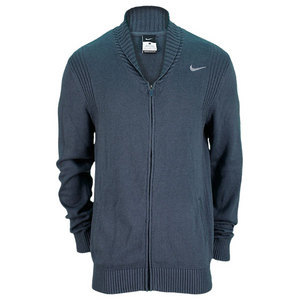 NIKE MENS FULL ZIP TENNIS SWEATER NAVY