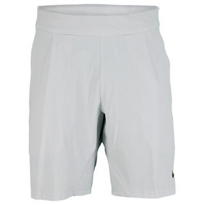 NIKE MENS PREMIER WOVEN TENNIS SHORT GRAY