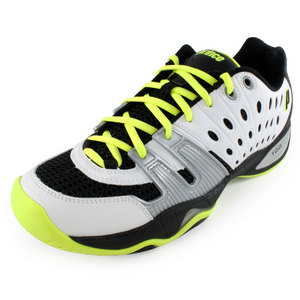 PRINCE MENS T22 TENNIS SHOES WHITE/BK/ELECTRIC