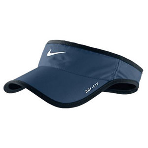 NIKE MENS FEATHERLIGHT TENNIS VISOR NAVY