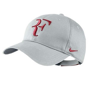NIKE MENS RF HYBRID TENNIS CAP LIGHT GRAY