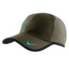 NIKE Men`s Rafa Bull Logo Tennis Cap Dark Green