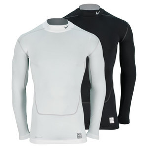 NIKE MENS CORE COMPRESSION LS MOCK 2.0 TOP