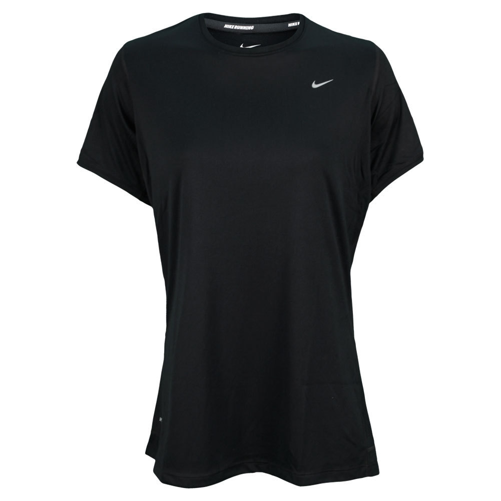 Women's Extended Size Short Sleeve Miler Running Top