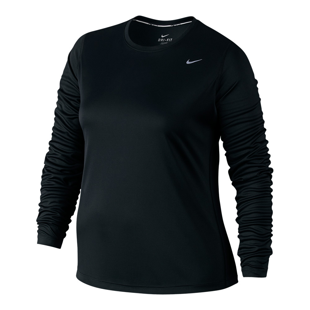 Women's Extended Size Long Sleeve Miler Running Top