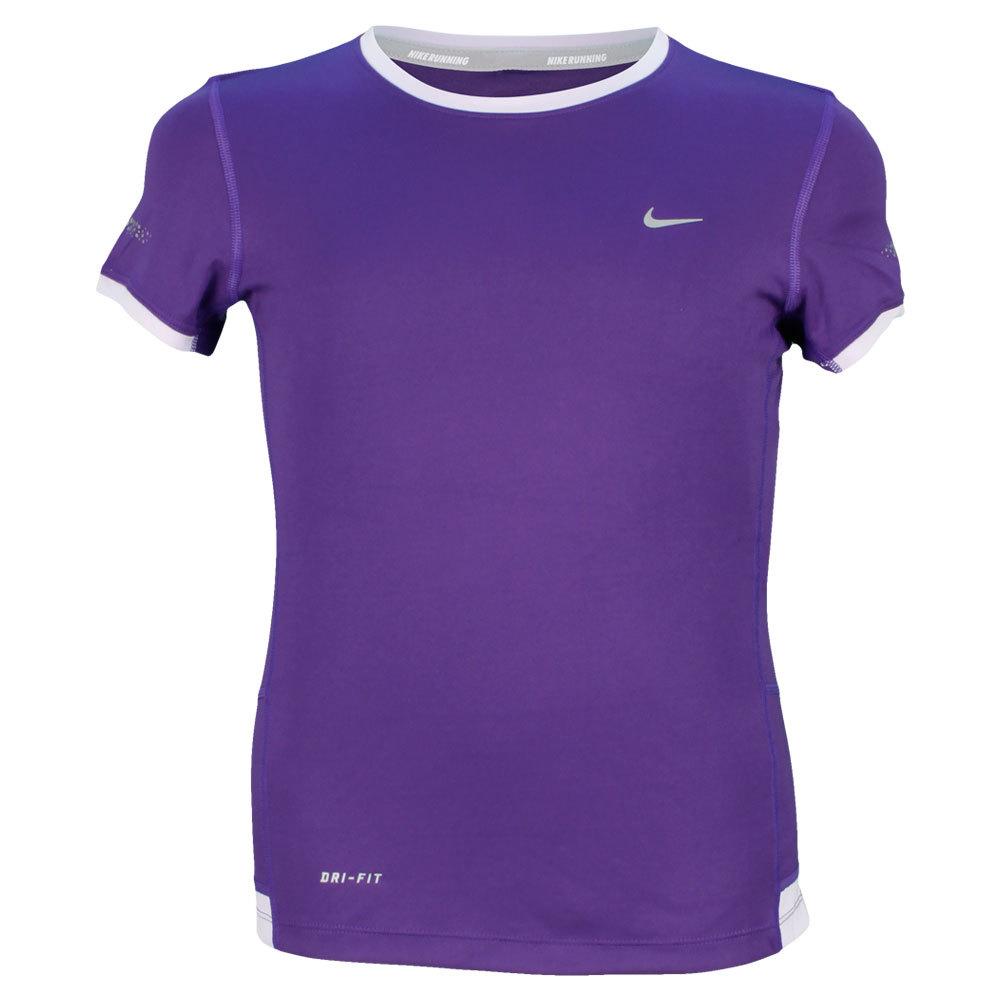Girls ` Miler Short Sleeve Running Crew