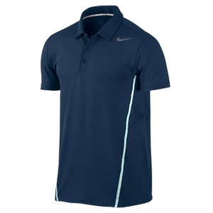 NIKE MENS SPHERE TENNIS POLO NAVY