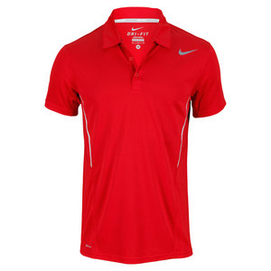 NIKE MENS POWER UV TENNIS POLO RED