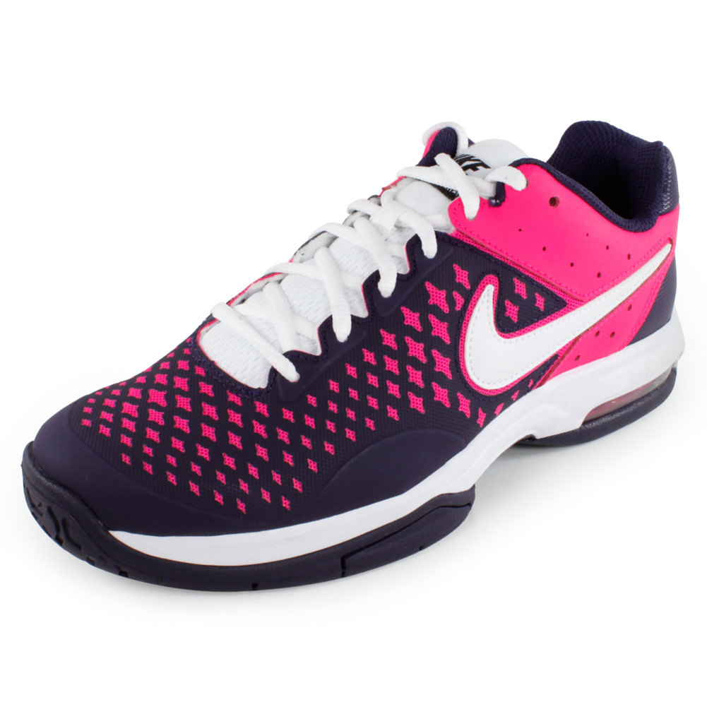 NIKE Women`s Air Cage Advantage Tennis Shoes Purple and Pink