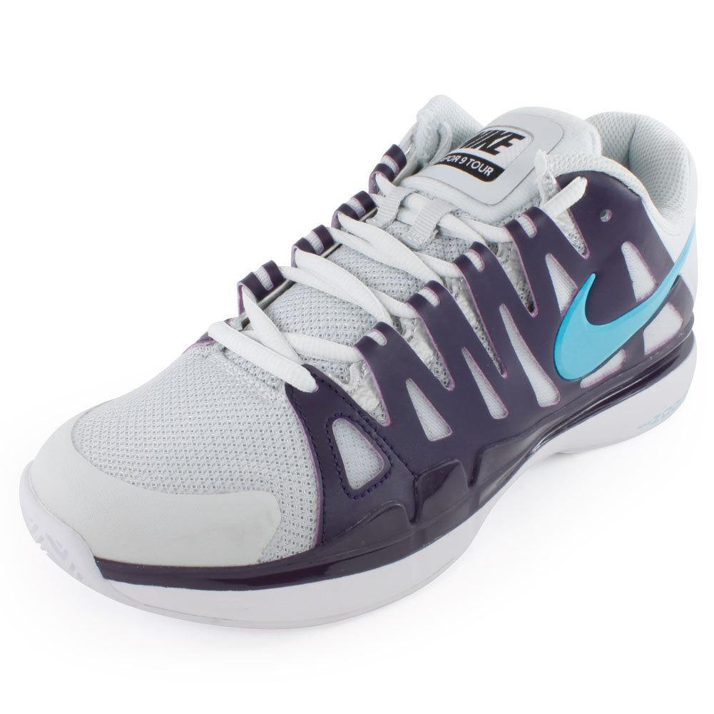 Women's Zoom Vapor 9 Tour Tennis Shoes Silver And Purple