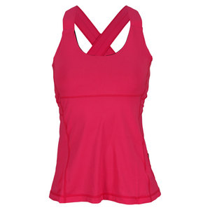 Women`s Criss Cross Tennis Tank Passion Pink