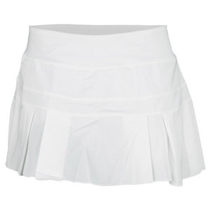 NIKE WOMENS WOVEN PLEATED TENNIS SKIRT WHITE