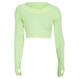 Women`s Tennis Crop Top Neon Yellow