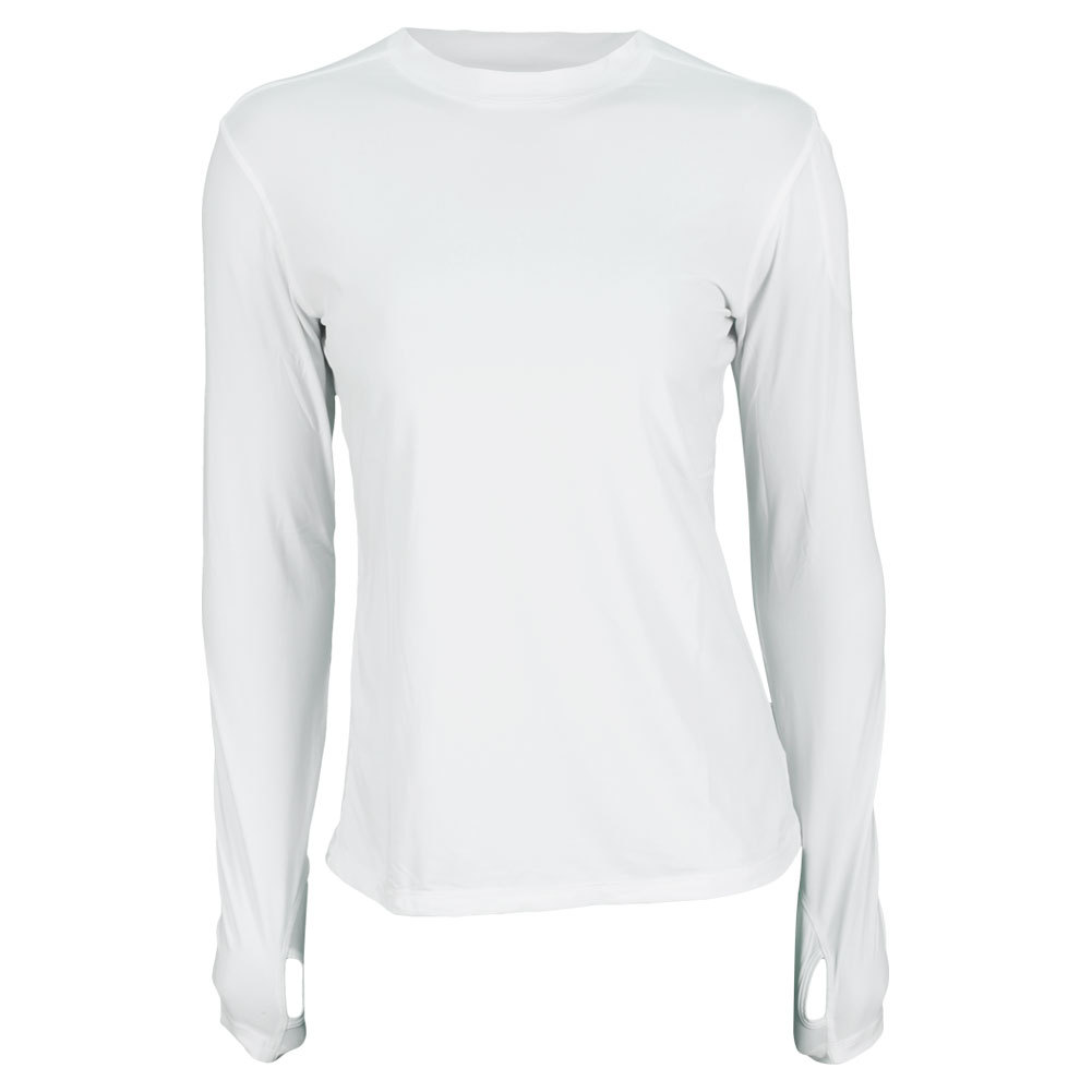 Tennis Express | BLOQUV Women`s 24/7 Long Sleeve Tennis Crew White