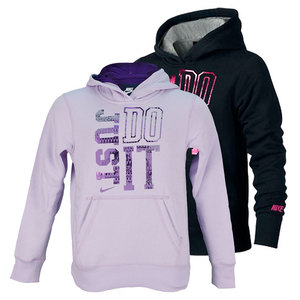 NIKE GIRLS JUST DO IT BRUSHED FLEECE HOODIE