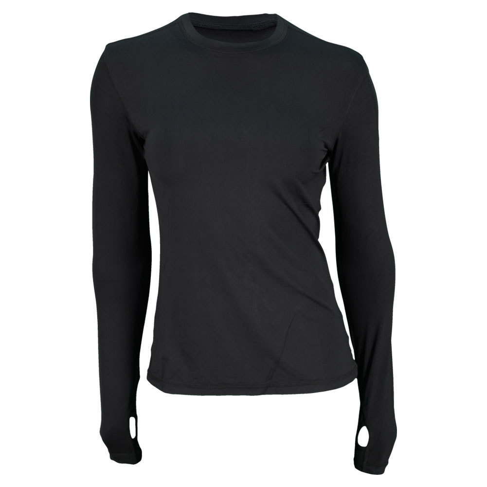 Women's 24/7 Long Sleeve Tennis Crew Black