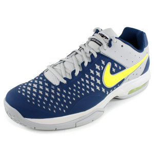 NIKE MENS AIR CAGE ADVANTAGE SHOES BLUE/GRAY