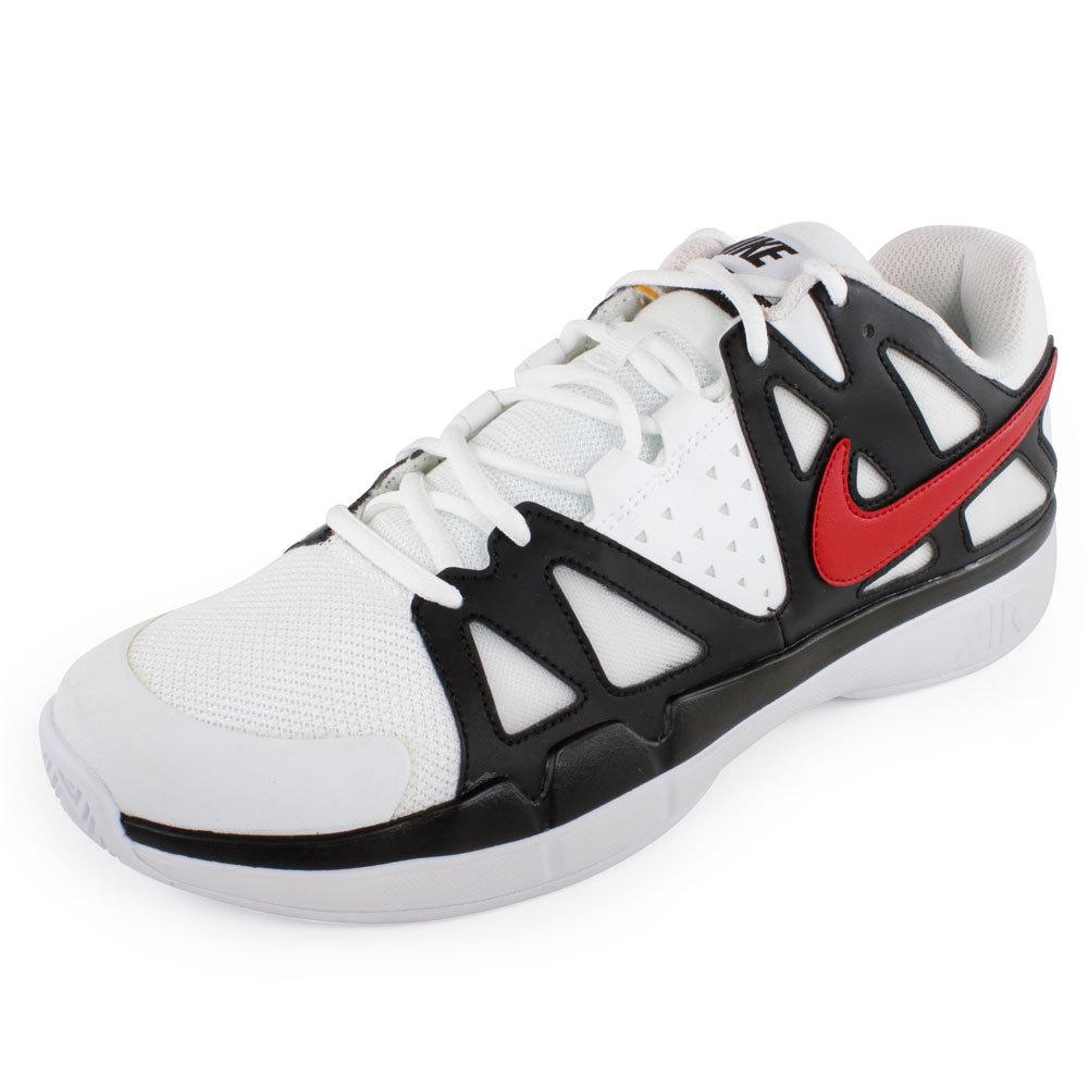 Men's Air Vapor Advantage Tennis Shoes White And Black
