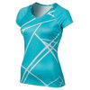 NIKE Women`s UV Printed Knit Tennis Top Blue