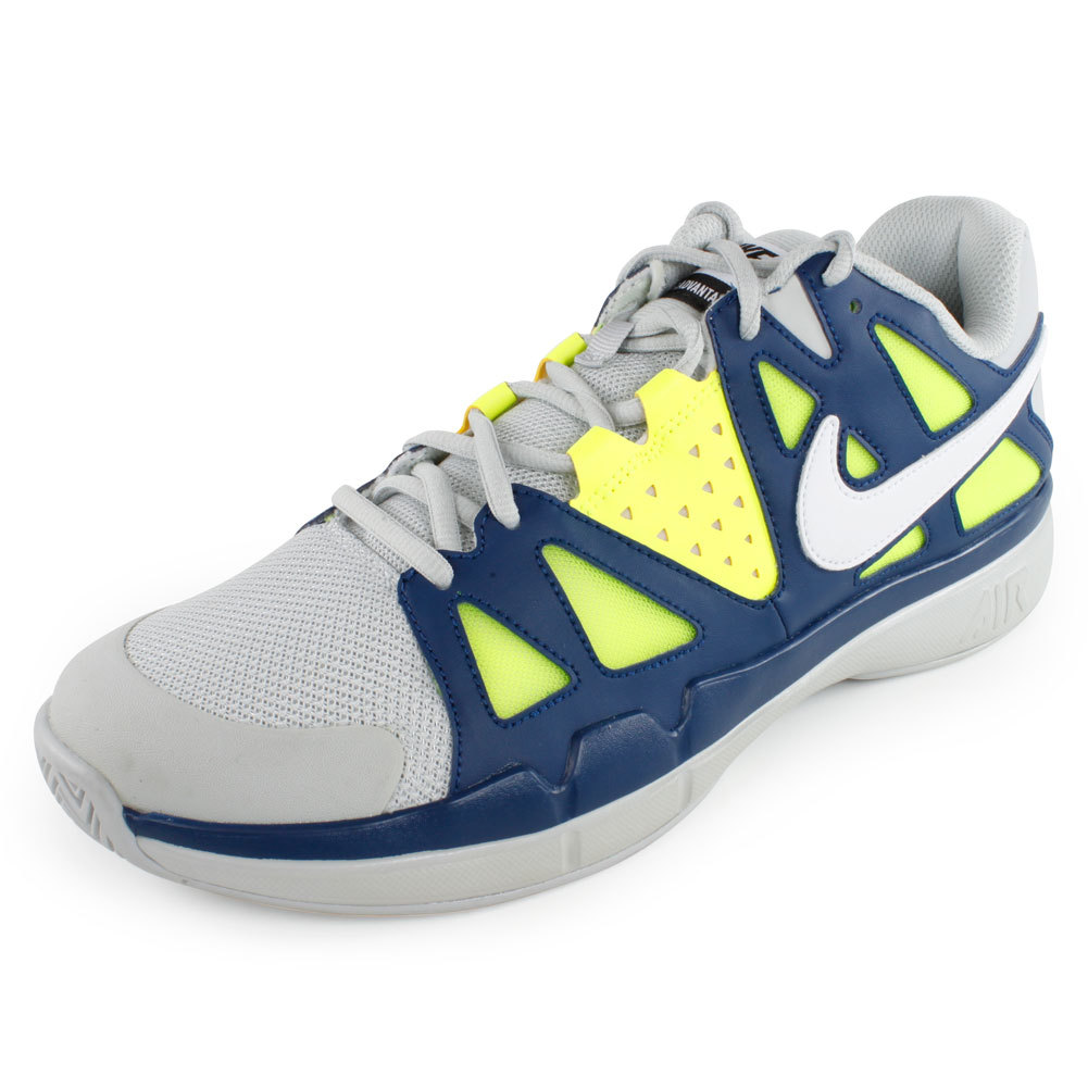 Men's Air Vapor Advantage Tennis Shoes Gray And Blue