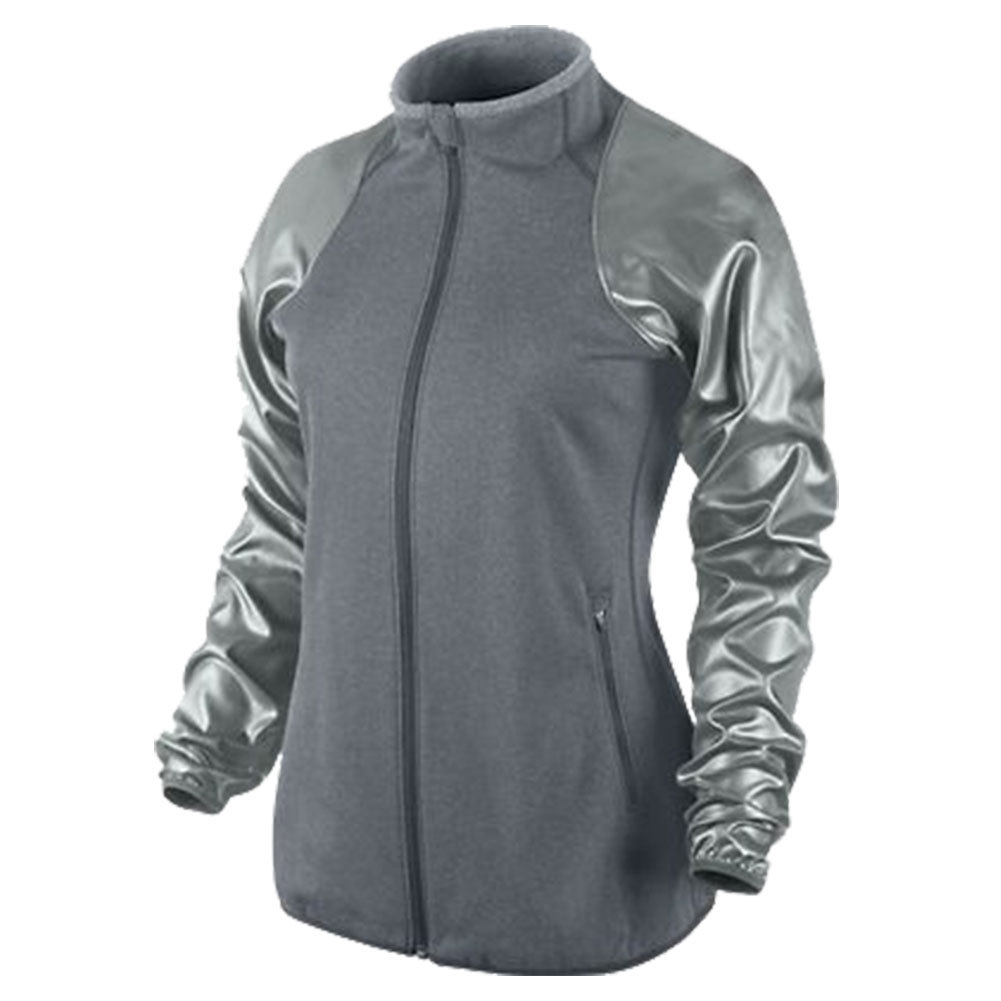 Women's Dri Fit Therma Knit Tennis Jacket Gray
