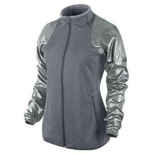 NIKE WOMENS DF THERMA KNIT JACKET GRAY