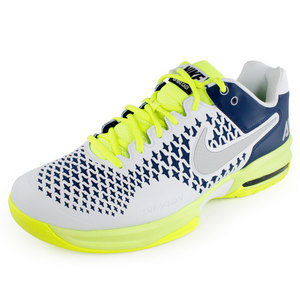 NIKE MENS AIR MAX CAGE SHOES BLUE/YELLOW