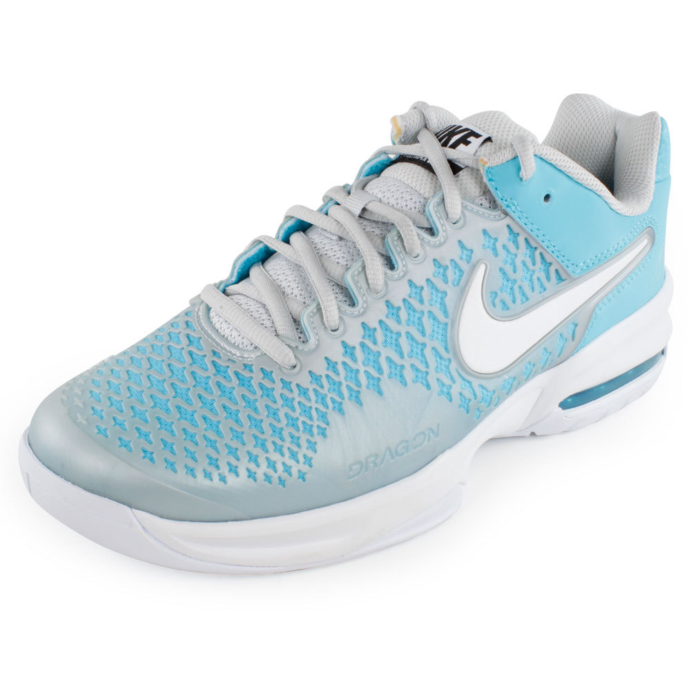 nike womens air max cage shoes blue gray