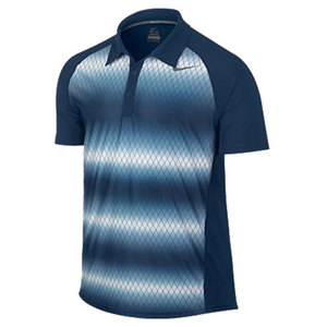 NIKE MENS ADVANTAGE UV GRAPHIC POLO NAVY
