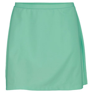 ELIZA AUDLEY WOMENS BASIC A LINE TENNIS SKORT GREEN
