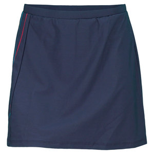 ELIZA AUDLEY WOMENS SIDE TWISTER TENNIS SKORT NAVY